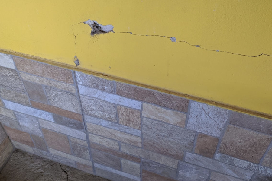 Riprisino lesioni da terremoto Civitella del Tronto